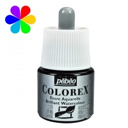 Flacon d'encre Noir d'ivoir Colorex